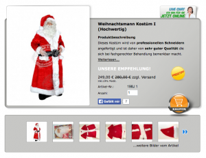Weihnachtsmann-198j-Kostume