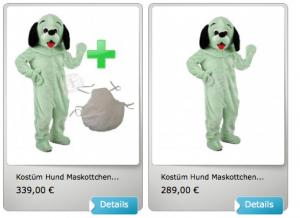 16p-Hunde-Kostüm-Maskottchen