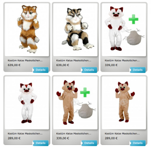 33p-Katze-Kostüm-Lauffiguren