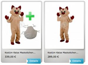 33p-Katzen-Kostüm-Lauffiguren