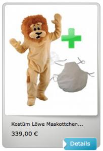60p-Löwen-Kissen-Kostüm