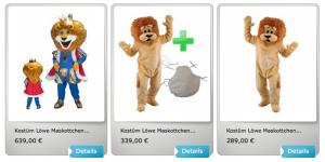 60p-Löwen-Kissen-Lauffiguren