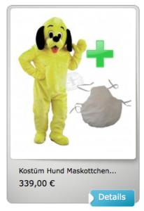 Kostüm-16p-Hund-Lauffiguren