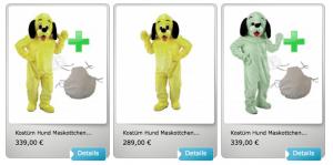 Kostüm-16p-Hund-Maskottchen