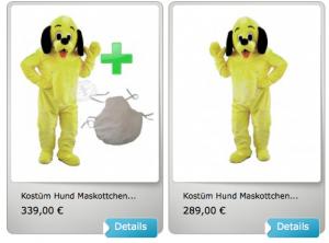Kostüm-16p-Hunde-Lauffigur