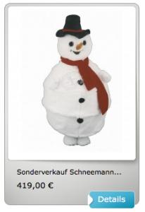 Schneemann-Kostüm