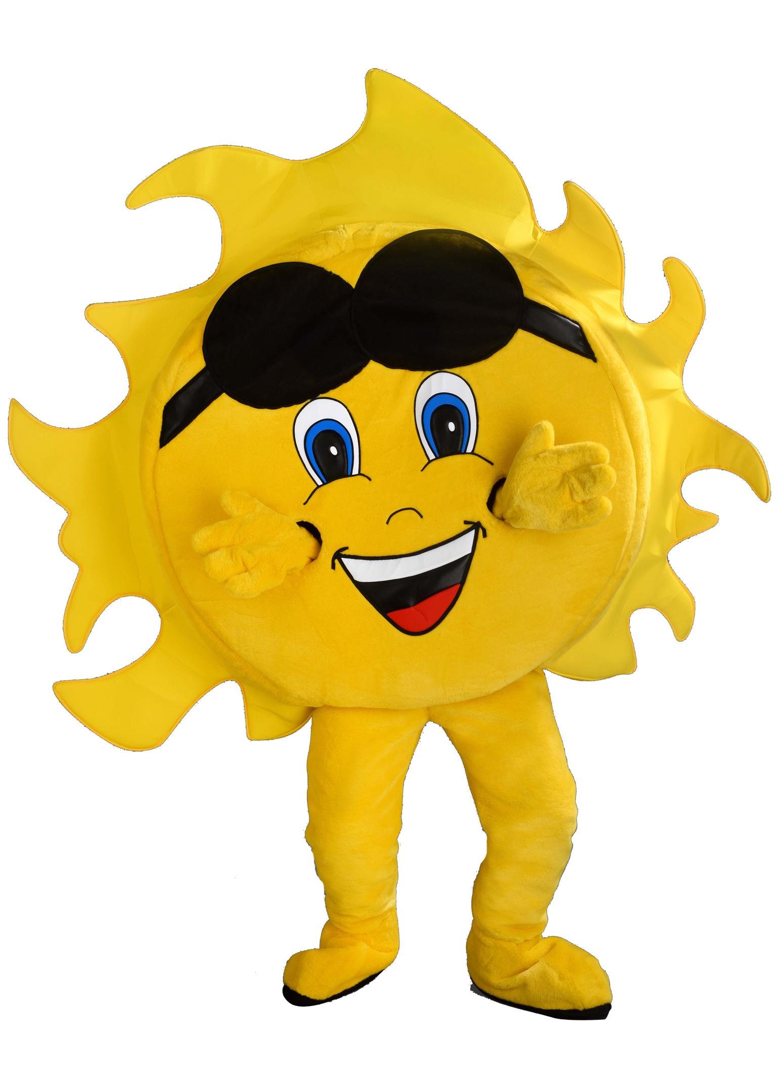 präsentieren noch nicht vulgär Neueste Mode Unser Sonnen Kostüm ist Maskottchen Lauffigur des Tages ...
