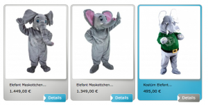30A-Elefanten-Kostüme