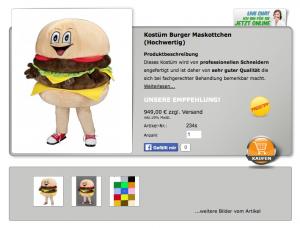 Burger-Kostüm-234sLauffigur