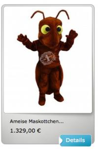 Kostüm-Ameise