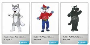 Wolf-Lauffiguren-Kostüm