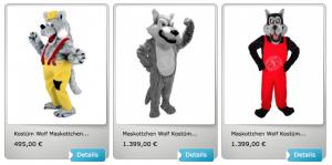 Wolf-Lauffiguren-Kostüme