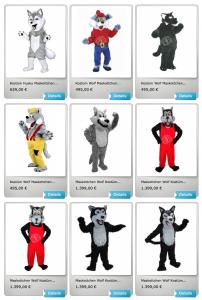 Wolf-Lauffiguren-Maskottchen-Kostüm
