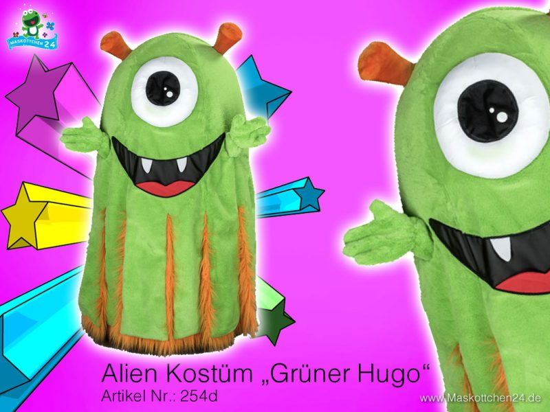 Alien Objekt Kostüm Maskottchen 254d