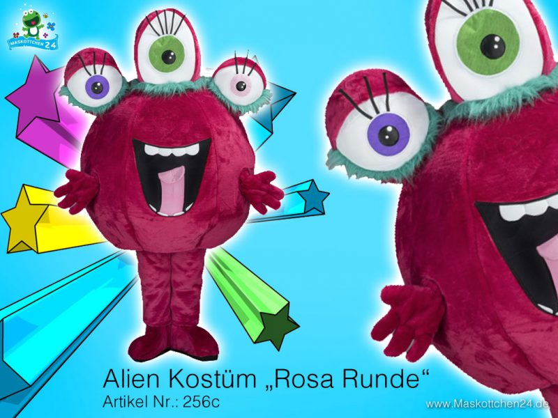 Alien Objekt Kostüm Maskottchen 256c
