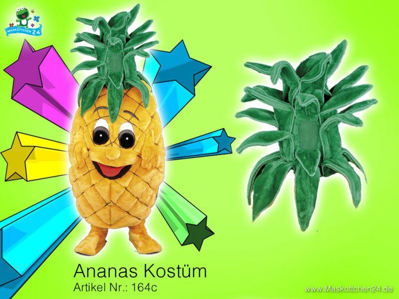 Ananas Kostüm Maskottchen 164c