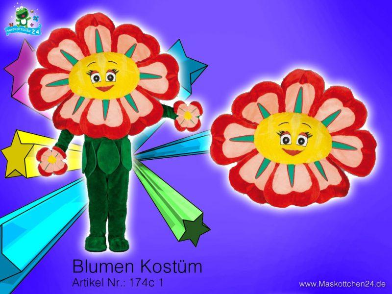 Blumen Kostüm Maskottchen Walking Act 174c