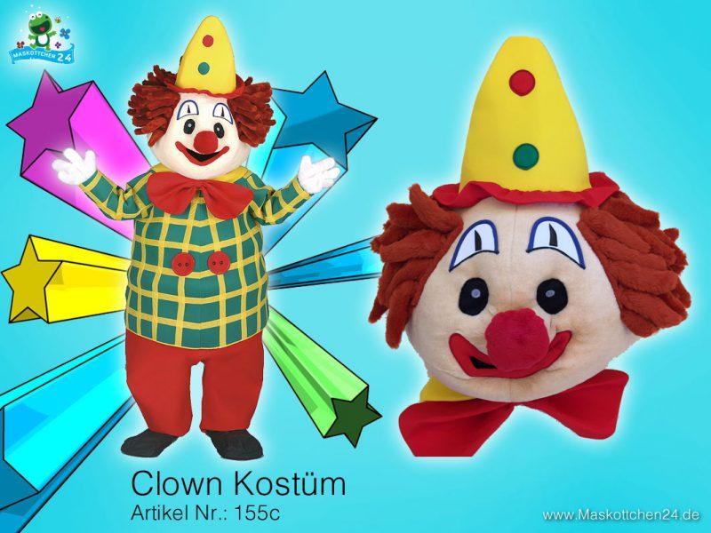 Clown Kostüm Maskottchen 155c
