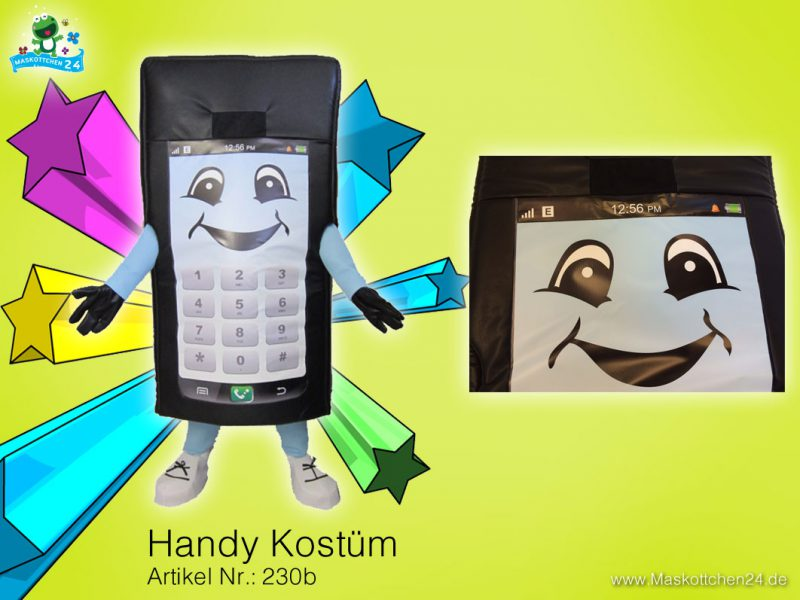 Handy Kostüm Maskottchen Lauffigur 230b