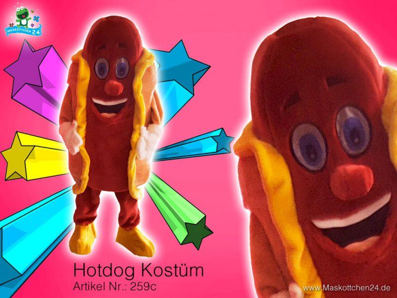 Hot Dog Kostüm Maskottchen 259c