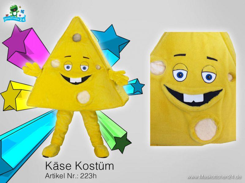 Käse Kostüm Maskottchen Lauffigur 223h