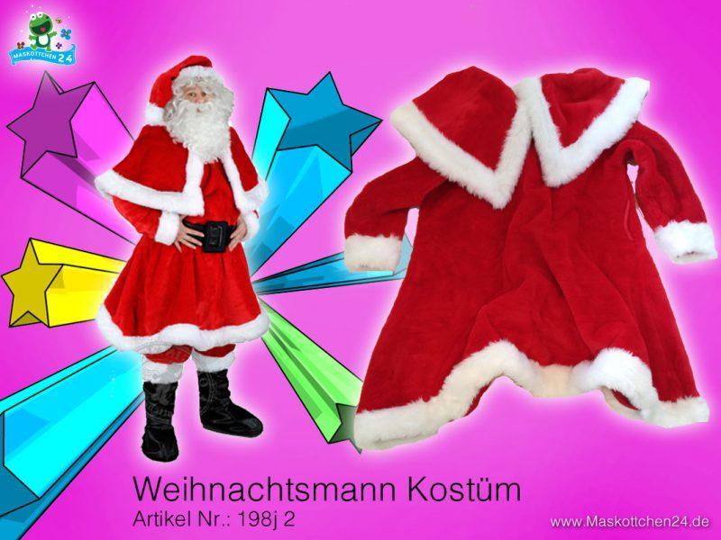 Weihnachtsmann Kostüme 198j Maskottchen