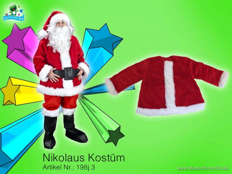 Weihnachtsmann Kostüm 198j Maskottchen