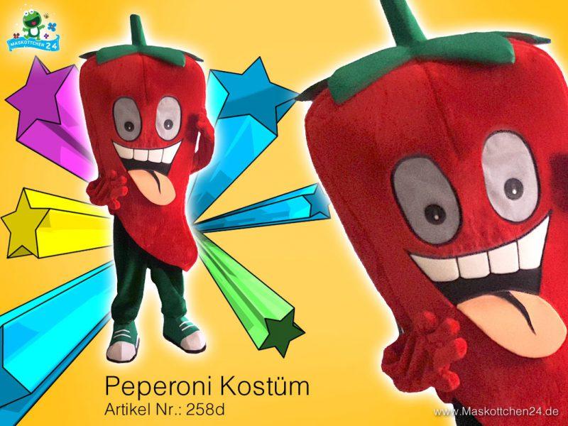Peperoni Kostüm Maskottchen Walking Act 258d