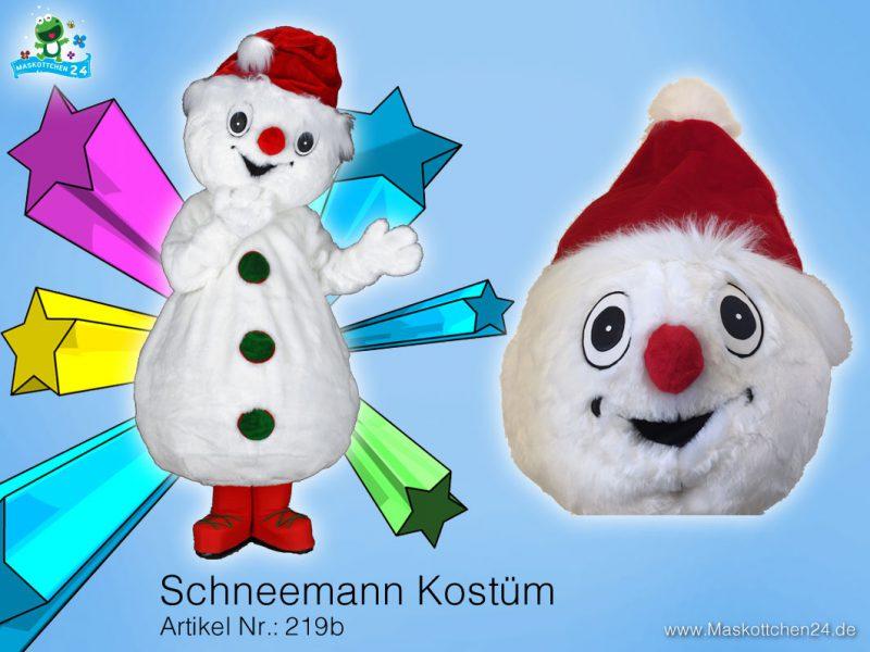 Schneemann Kostüm 219b Maskottchen