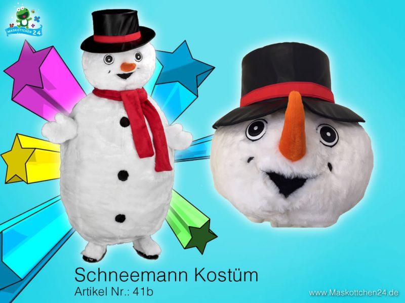 Schneemann 41b Kostüm Maskottchen