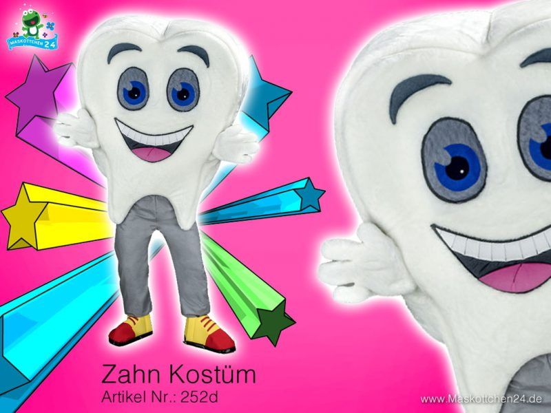 Zahn Kostüm Maskottchen 252d
