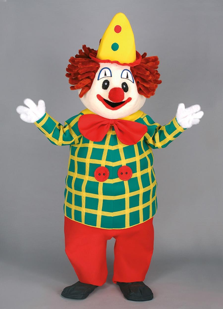 """Herstellung Vereins """"Clown Maskottchen Kostüm"""" Produktion Firmen Walking Act Lauffigur #155c"""