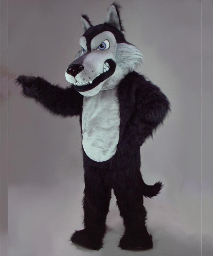 Wolf Kostüm Maskottchen