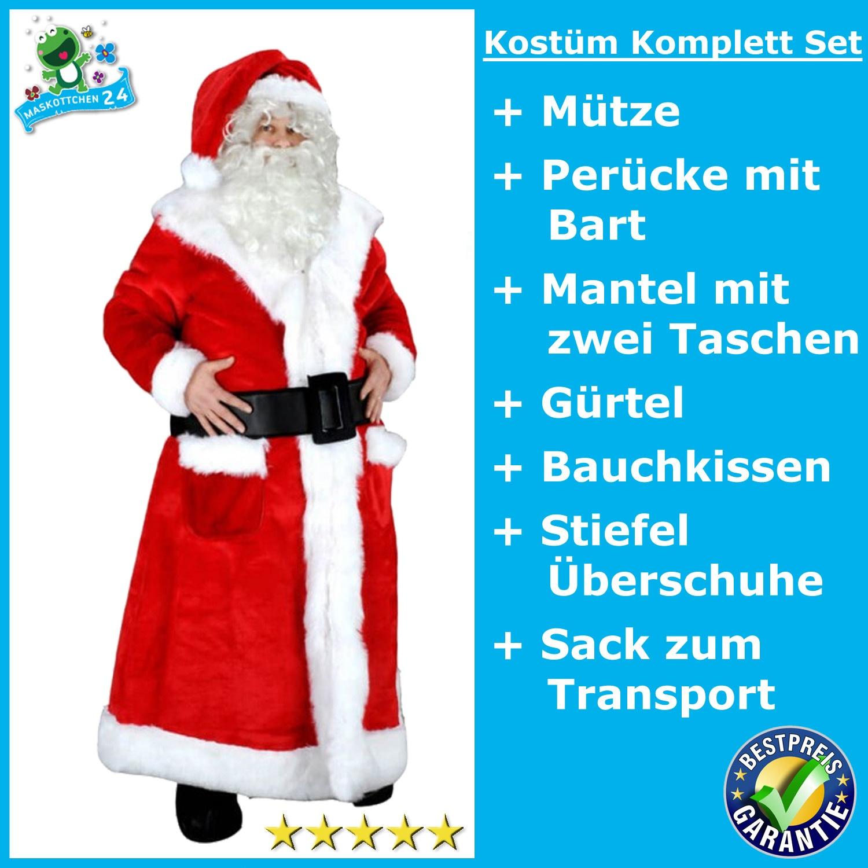 Nikolaus 198j Weihnachtsmann Kostüm Maskottchen Lauffigur