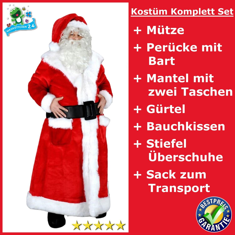 198j Weihnachtsmann Kostüm Maskottchen Nikolaus