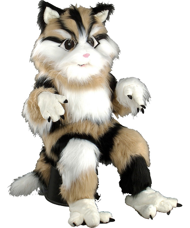 Katzen Kostüm 134b Lauffigur Maskottchen Walking Act