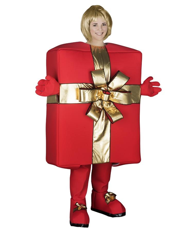 Weihnachts Kostüm Geschenk Box Maskottchen Lauffigur 265n