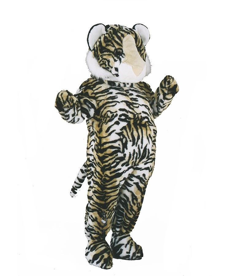 Tiger Kostüm Erwachsenen Lauffigur Maskottchen 17a