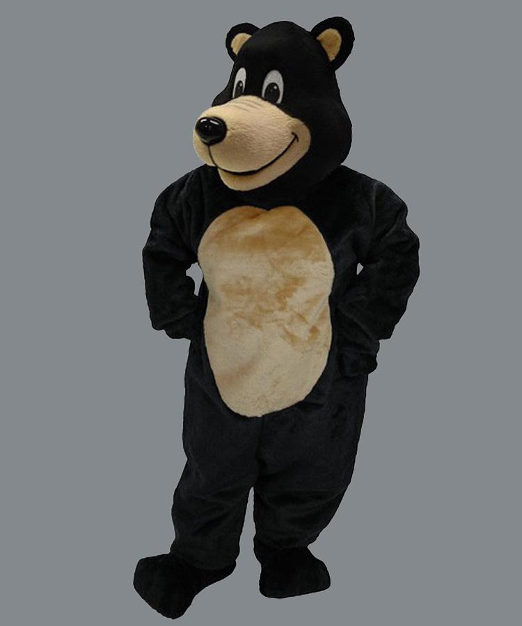 Maskottchen Schwarz Bär Kostüm Promotion (Werbefigur)