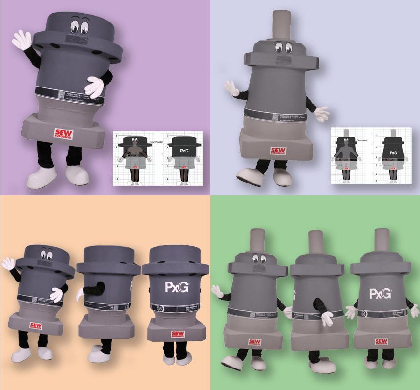 SEW Getriebe Motoren Kostüm Maskottchen