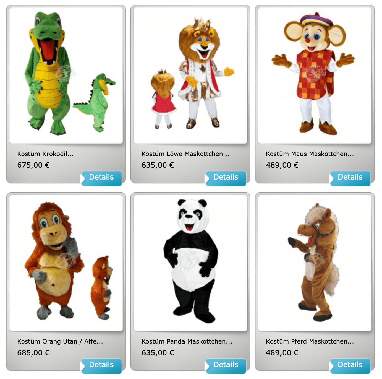 Schulmaskottchen Kostüme günstig kaufen!