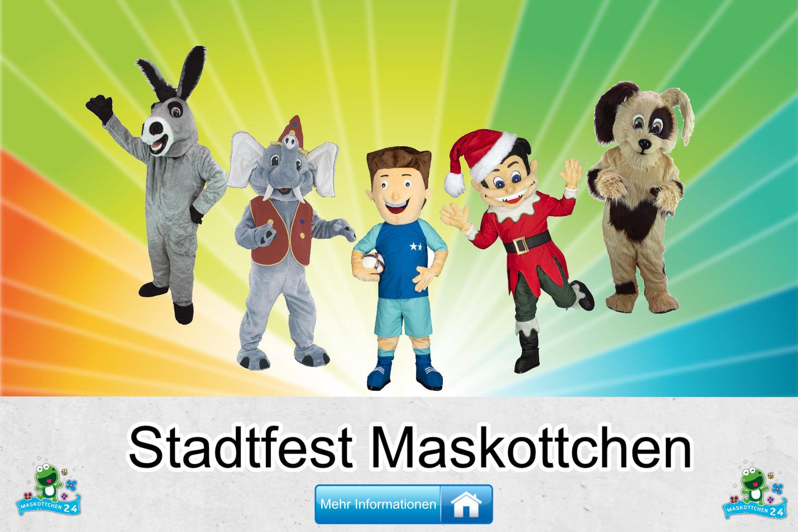Stadtfest Maskottchen Kostüm kaufen
