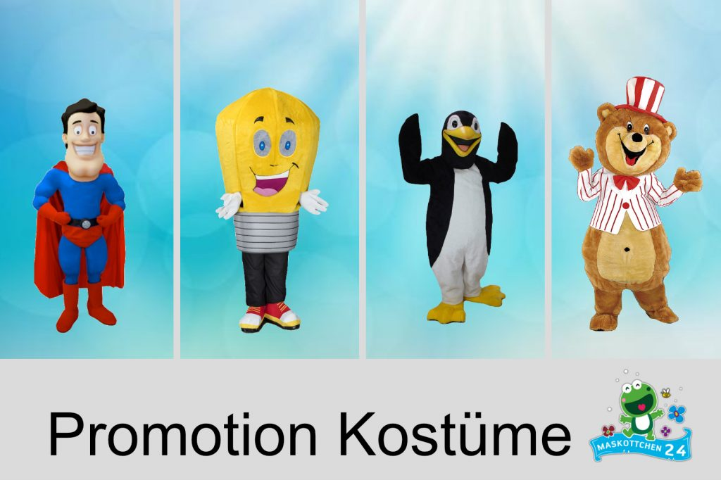 Promotion Kostüme Produktion Maskottchen
