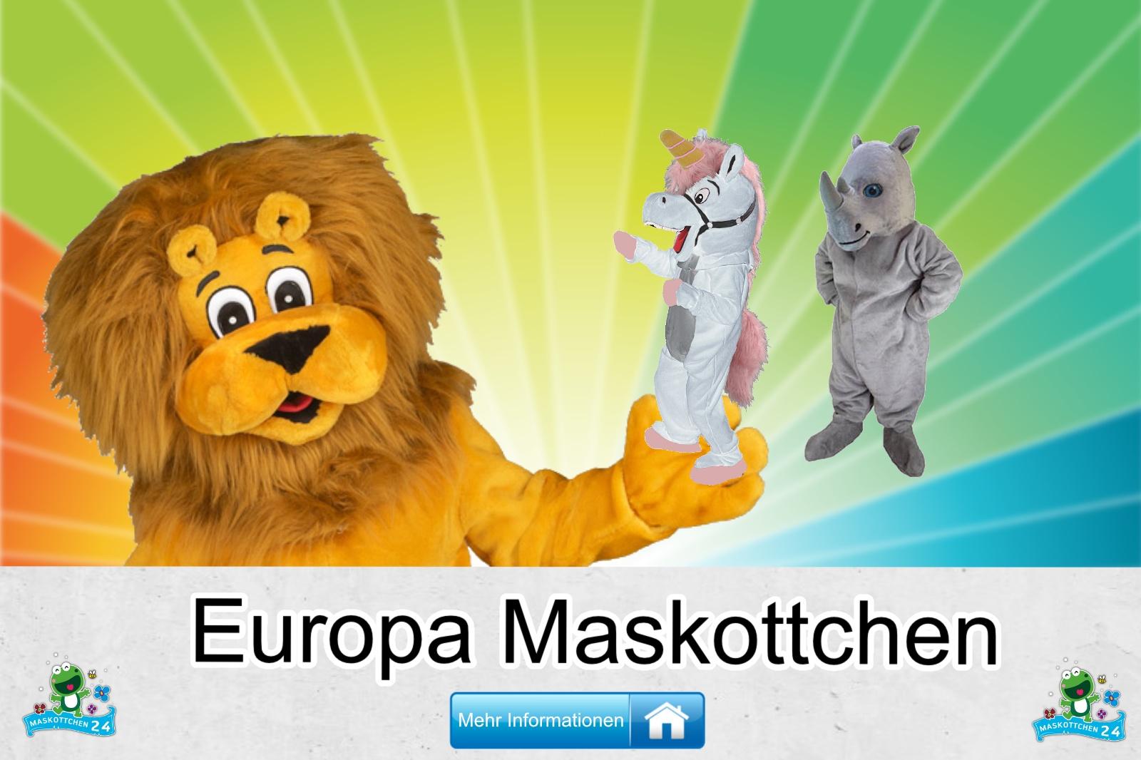 Europa Maskottchen Kostüm kaufen