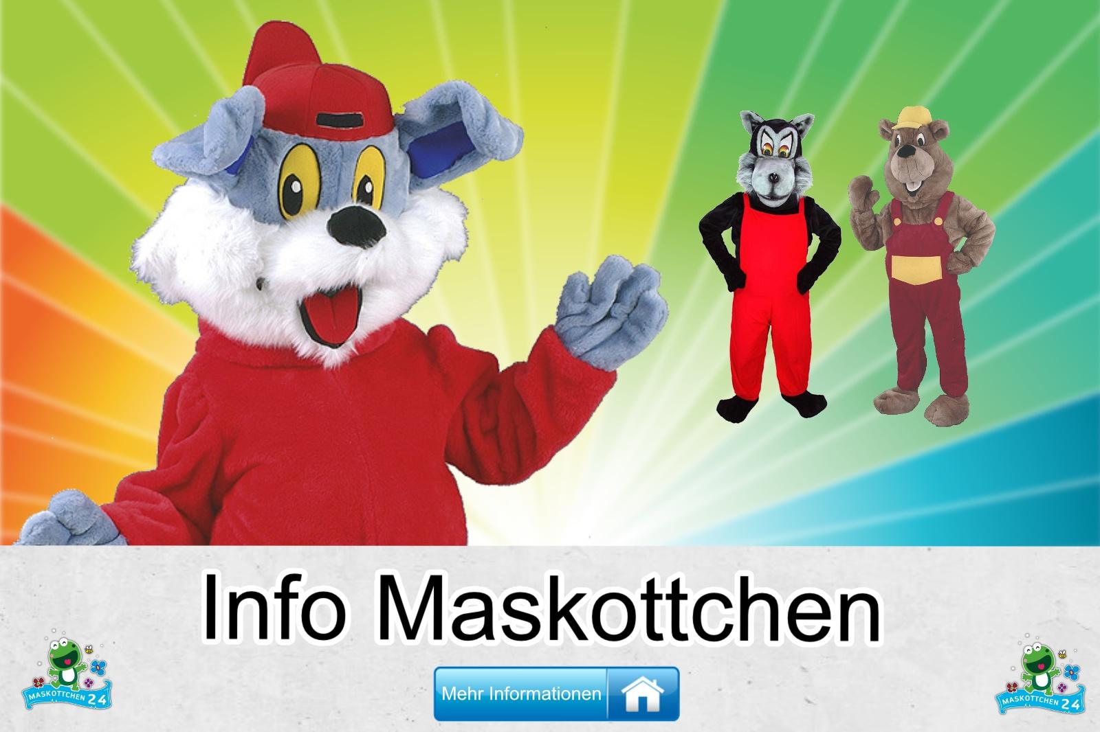 Die Info, Maskottchen Kostüm kaufen, günstige Produktion und Herstellung.