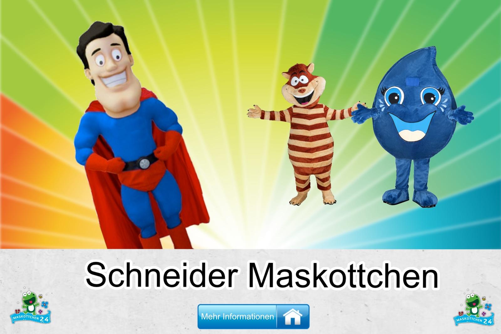 Der Schneider Maskottchen Kostüm kaufen, günstige Produktion und Herstellung.