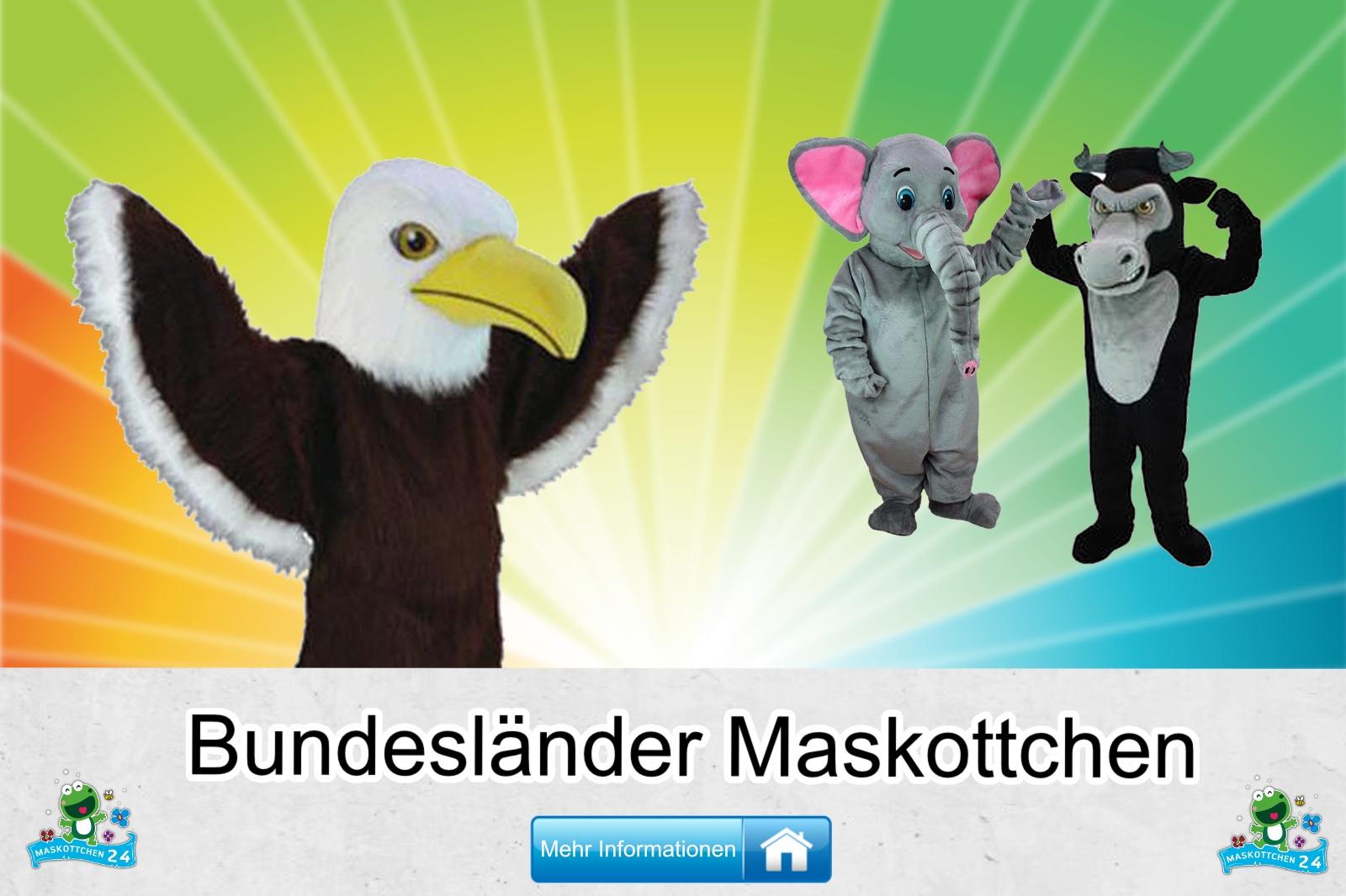 Bundesländer Maskottchen Kostüm kaufen, günstige Produktion / Herstellung