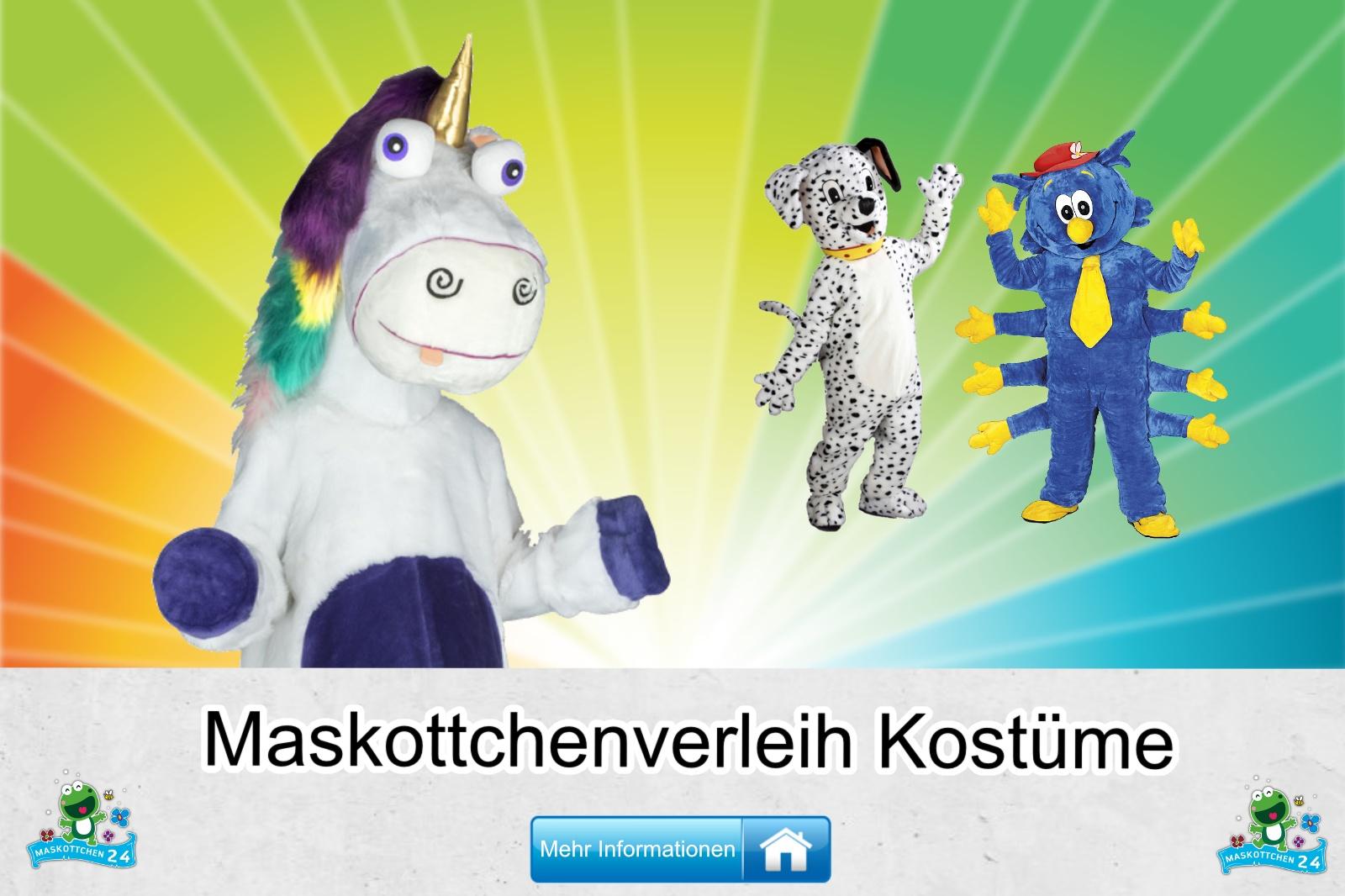 Maskottchenverleih Kostüm Vermietung, günstige Produktion / Herstellung