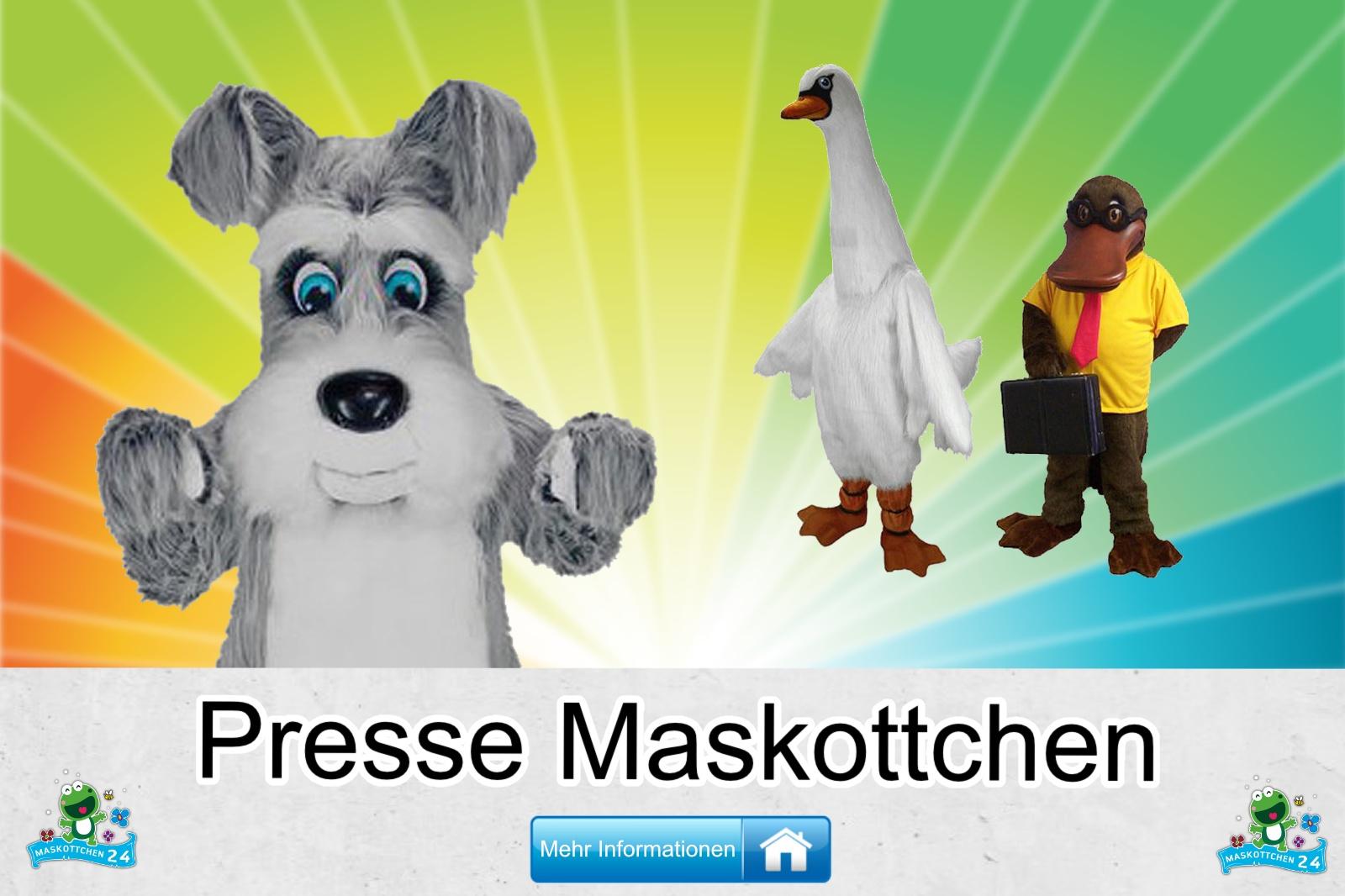 Presse Maskottchen Kostüm kaufen, günstige Produktion / Herstellung.