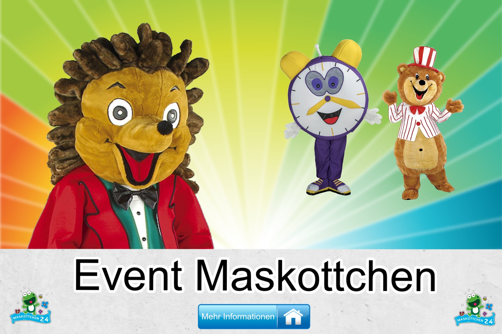 Event Maskottchen Kostüm kaufen, günstige Produktion / Herstellung